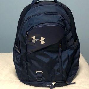 Under armor Hustle backpack navy blue